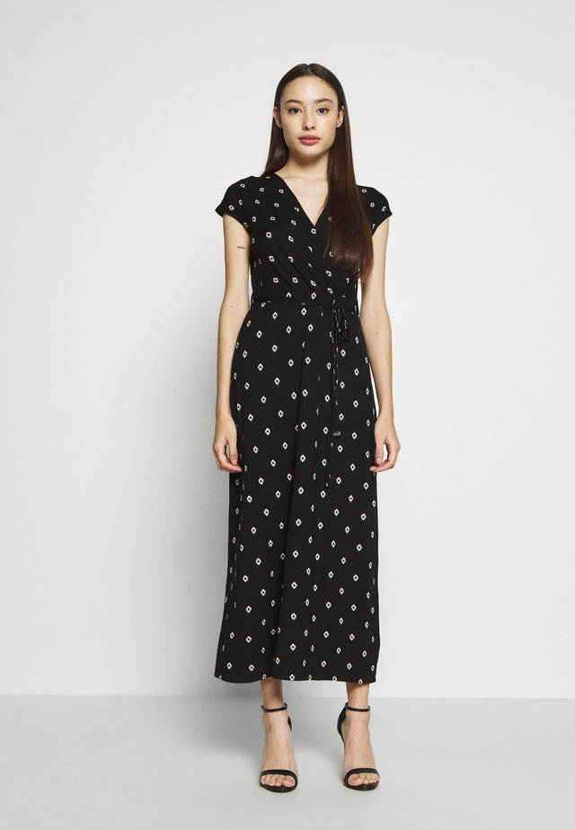 GEO WRAP MAXI DRESS  - Długa sukienka - black
