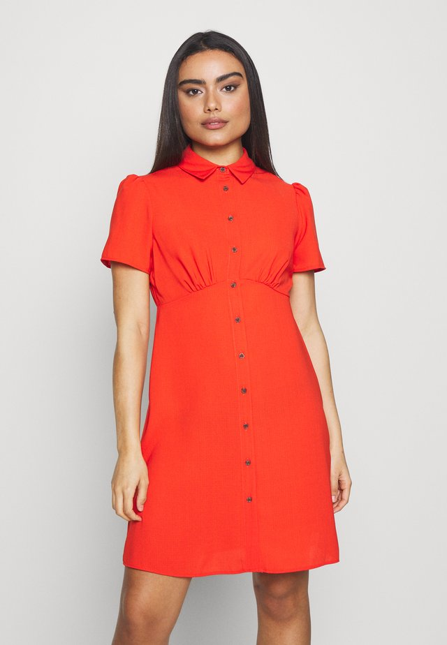 EMPIRE SEAM FIT AND FLARE - Shirt dress - orange