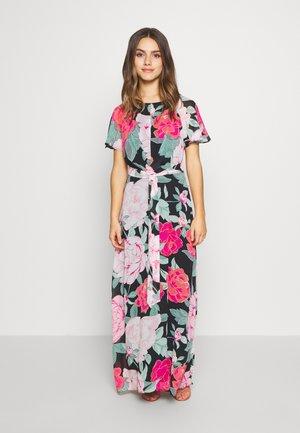 PETITE FLORAL PLEAT FRONT KEYHOLE MAXI DRESS - Maxi šaty - black