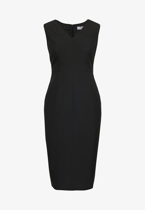 PETITES SWEETHEART V NECK DRESS - Denní šaty - black