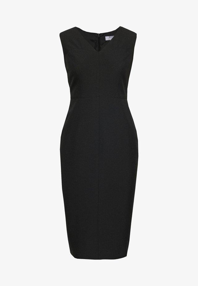 PETITES SWEETHEART V NECK DRESS - Korte jurk - black