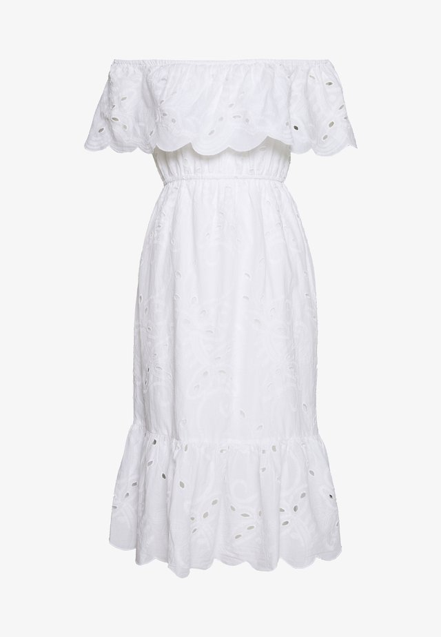 BRODERIE OCCASION DRESS - Korte jurk - ivory