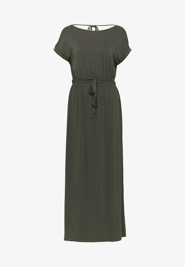 ROLL SLEEVE DRESS - Vestido largo - khaki