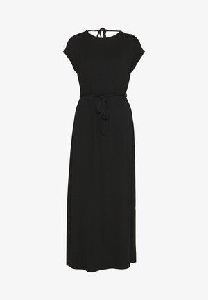 ROLL SLEEVE DRESS - Długa sukienka - black