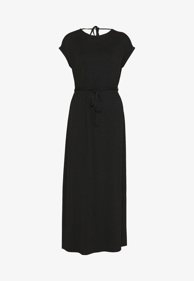 ROLL SLEEVE DRESS - Maxikleid - black