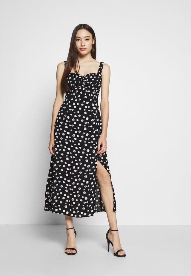 BLACK DAISY SWEETHEART CRINKLE DRESS - Day dress - black
