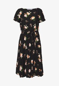 Dorothy Perkins Petite - FLORAL SLEEVE DRESS - Denní šaty - black - 0