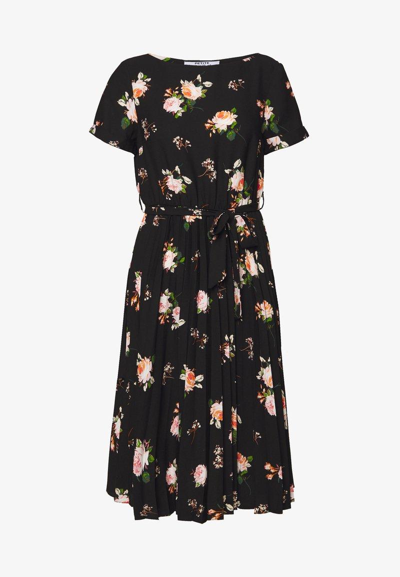 Dorothy Perkins Petite - FLORAL SLEEVE DRESS - Denní šaty - black