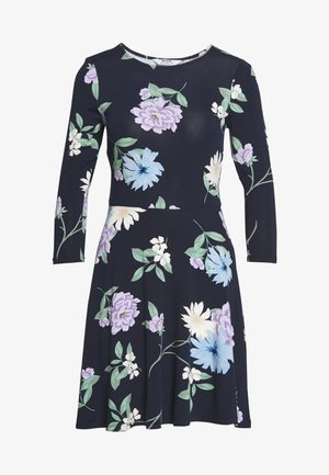 PETITES CAMEL FIT AND FLARE DRESS - Robe en jersey - navy