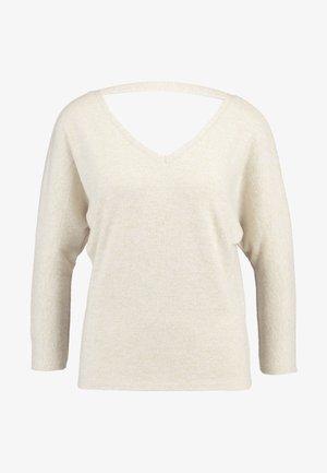 V FRONT V BACK BRUSHED - Camiseta de manga larga - beige