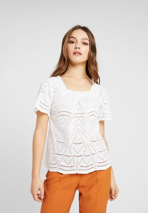 BRODERIE SQUARE NECK - Blouse - ivory