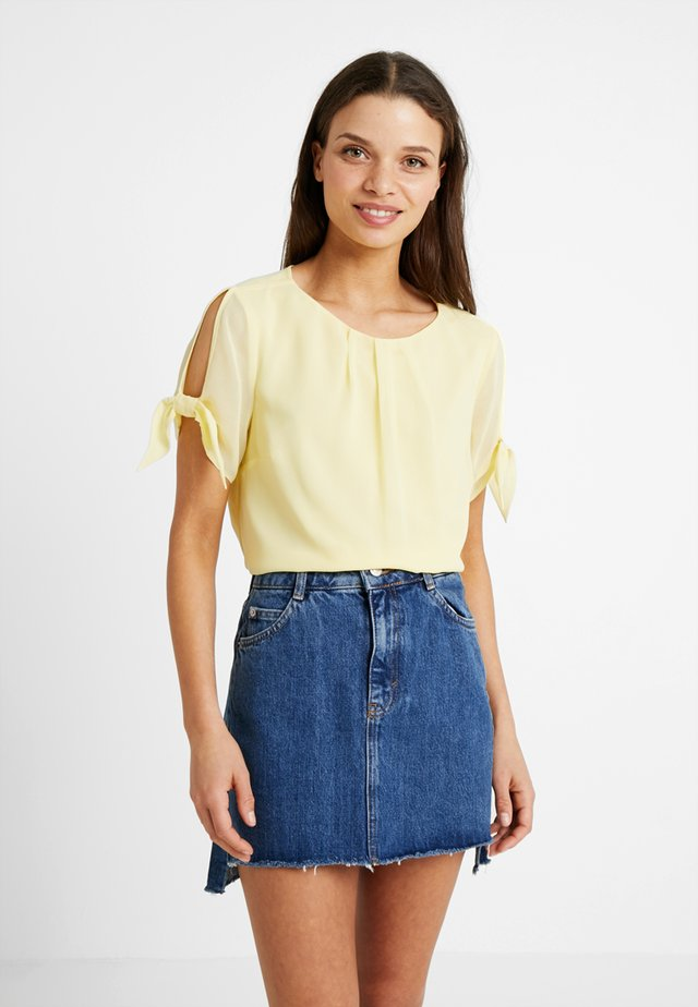 LEMON TIE SLEEVE - Bluzka - lemon