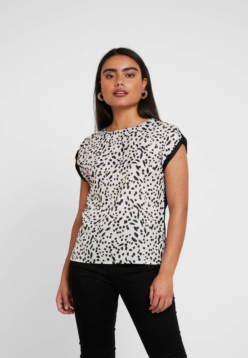 Dorothy Perkins Petite - NON ANIMAL PRINT FRONT BACK - Blouse - ivory