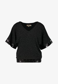 Dorothy Perkins Petite - GLITTER SEQUIN TRM BATWING - T-shirts med print - black - 3