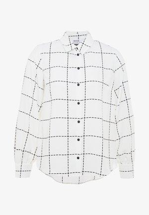 GRID CHECK SHIRT - Skjorte - ivory