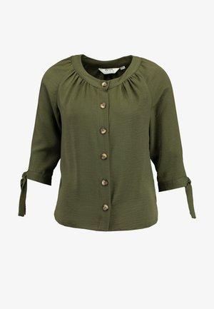 ROUND NECK TIE SLEEVE - Blouse - green