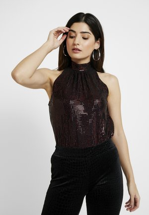 BILLIE LABELSLEEVELESS HALTER - Blůza - red
