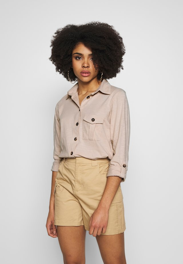 STONE  SHIRT - Button-down blouse - stone