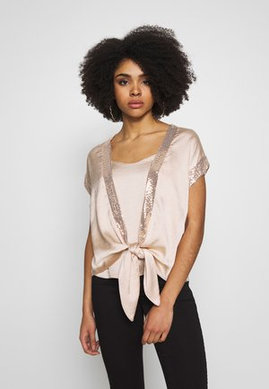 SPLIT SLEEVE TOP - Blus - gold