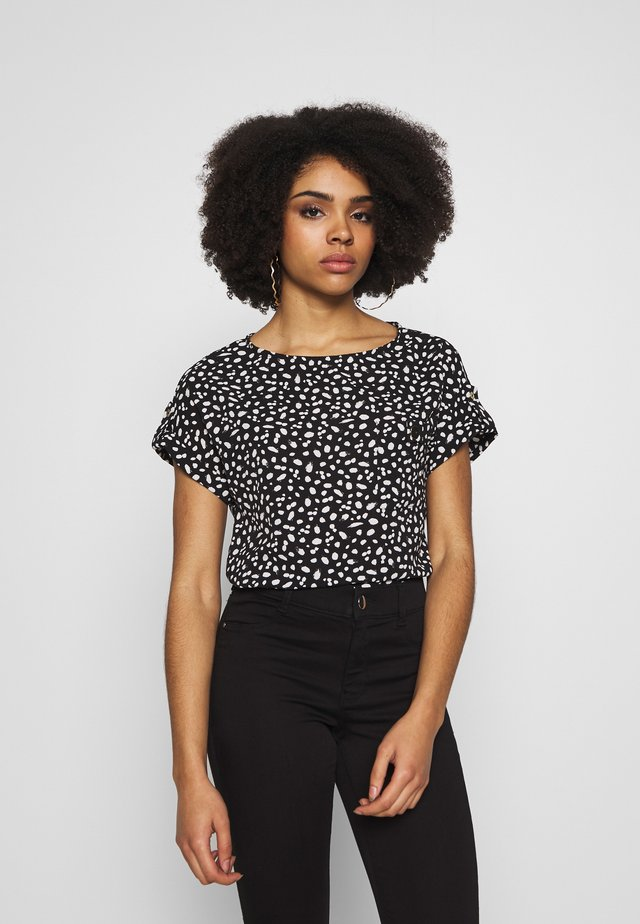 MONO SPOT SOFT TEE - Blouse - black