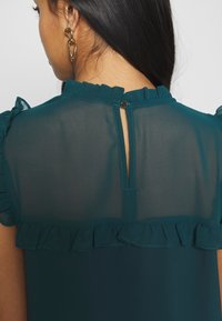 Dorothy Perkins Petite - RUFFLE NECK YOKE - Blouse - green