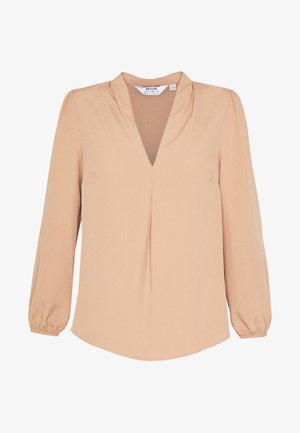 V NECK VIENNA TOP - Blouse - beige