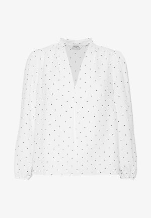 PIN SPOT V NECK VIENNA - Blouse - ivory