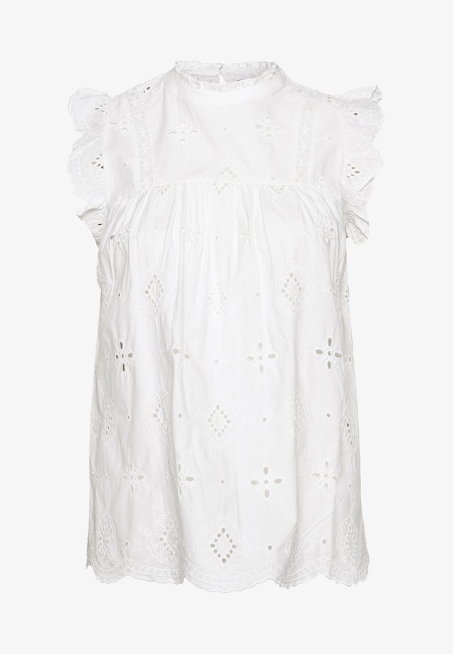 BRODERIE SHELL - Bluse - ivory