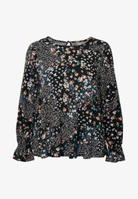 Dorothy Perkins Petite - BILLIE DITSY FLORAL LONG SLEEVE TIERED - Bluser - black - 4