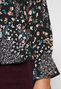 Dorothy Perkins Petite - BILLIE DITSY FLORAL LONG SLEEVE TIERED - Bluser - black - 5