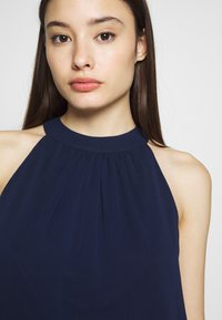 Dorothy Perkins Petite - BUBBLE HEM HALTER TOP - Blouse - navy - 4