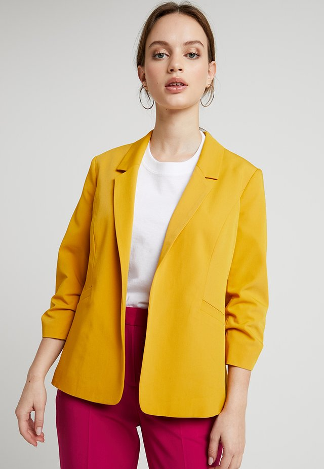 ROUCHED SLEEVE JACKET - Blazere - ochre