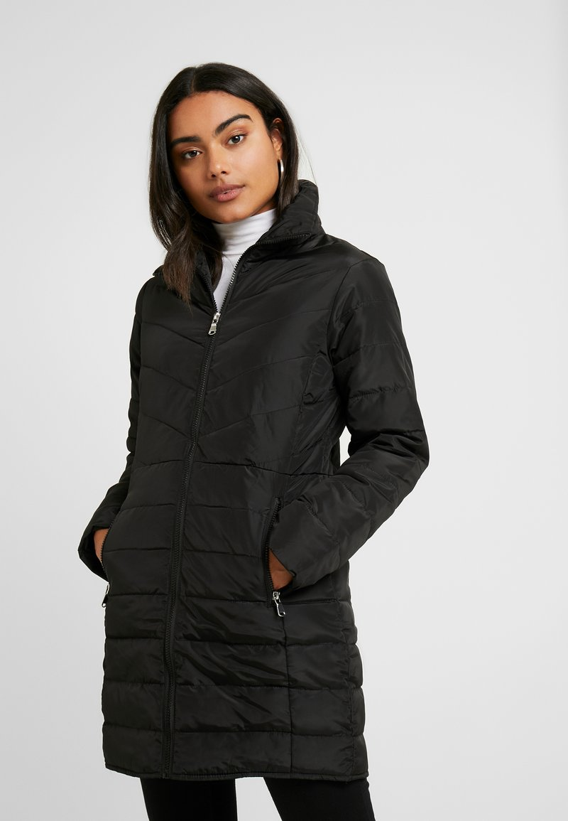 Dorothy Perkins Petite - SUSTAINABLE LONG PADDED JACKET - Short coat - black