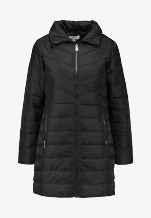 SUSTAINABLE LONG PADDED JACKET - Kort kåpe / frakk - black