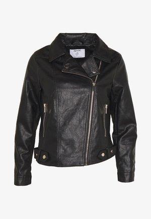 Imiteret læderjakke - black