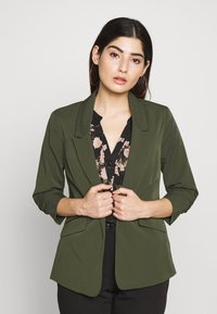 Dorothy Perkins Petite - EDGE TO EDGE ROUCHED SLEEVE JACKET - Blazer - green - 0