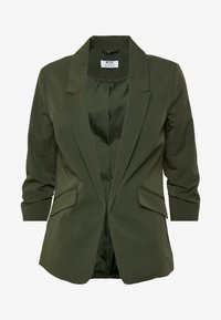 Dorothy Perkins Petite - EDGE TO EDGE ROUCHED SLEEVE JACKET - Blazer - green - 4