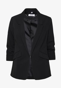 Dorothy Perkins Petite - EDGE TO EDGE ROUCHED SLEEVE JACKET - Blazer - black - 4