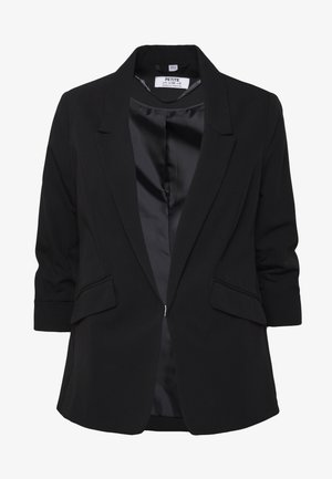 EDGE TO EDGE ROUCHED SLEEVE JACKET - Sportovní sako - black
