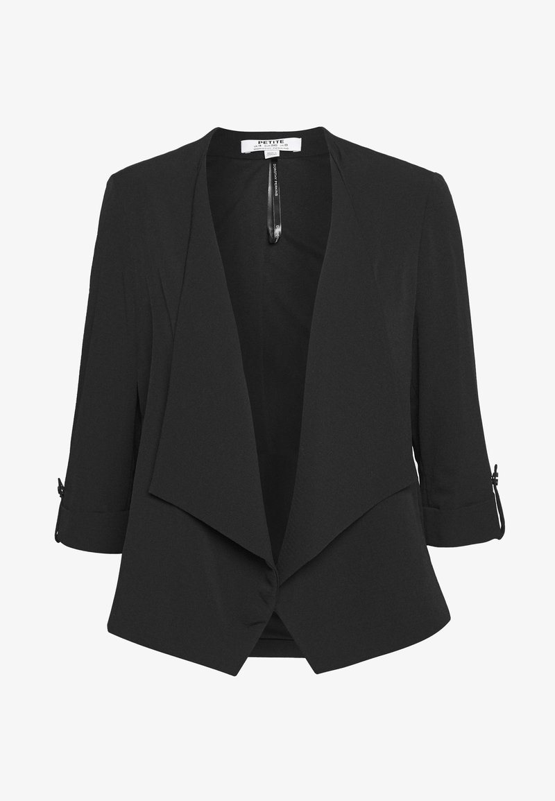 Dorothy Perkins Petite - WATERFALL JACKET - Blazer - black