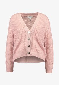 Dorothy Perkins Petite - STITCH SLEEVE BUTTON CARDI - Cardigan - blush - 3
