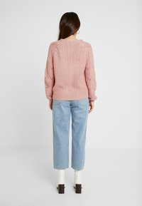Dorothy Perkins Petite - STITCH SLEEVE BUTTON CARDI - Kardigan - blush - 2