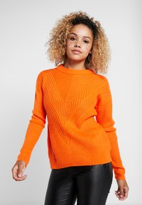 Dorothy Perkins Petite - MID GAUGE ROUND NECK JUMPER - Jersey de punto - orange - 0