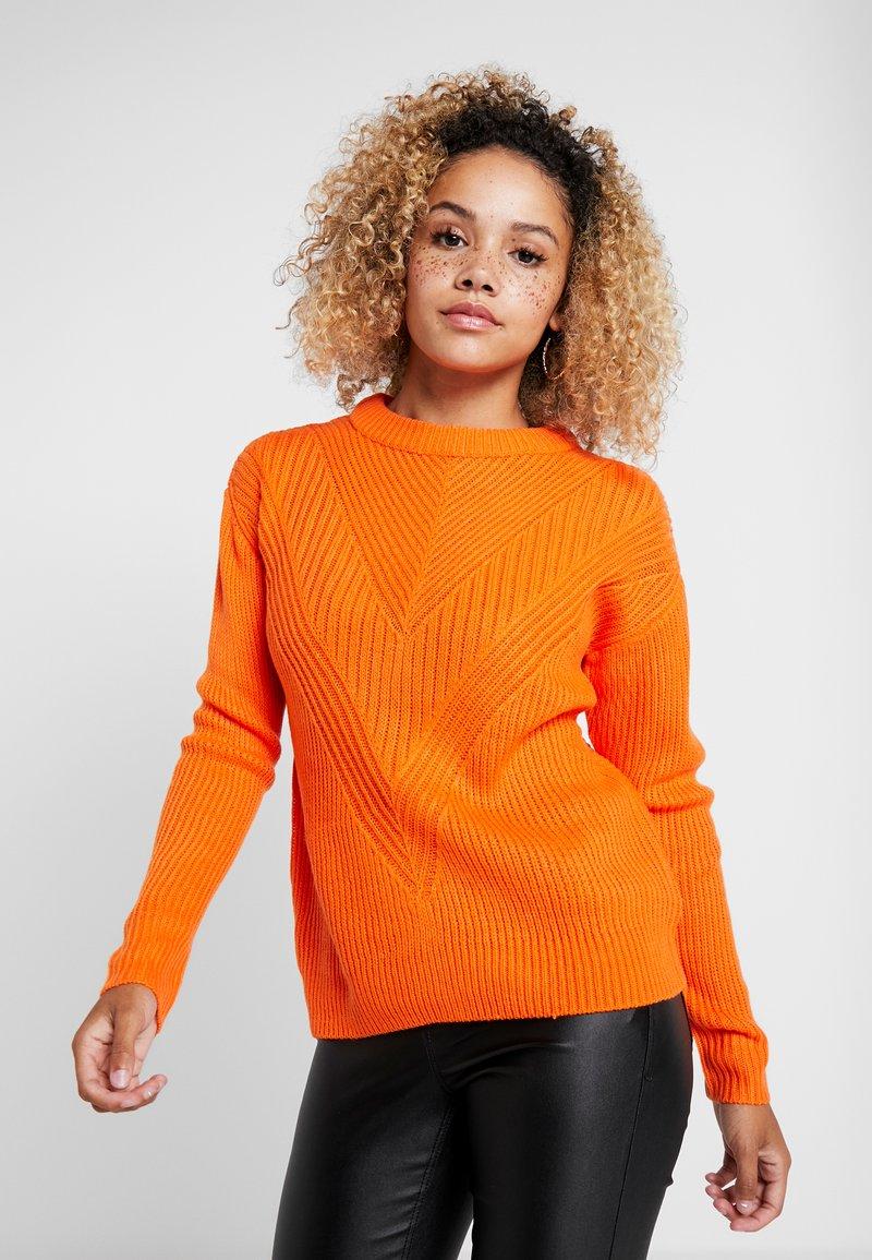 Dorothy Perkins Petite - MID GAUGE ROUND NECK JUMPER - Jersey de punto - orange