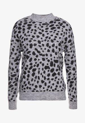 MID GAUGE LEOPARD - Jersey de punto - grey