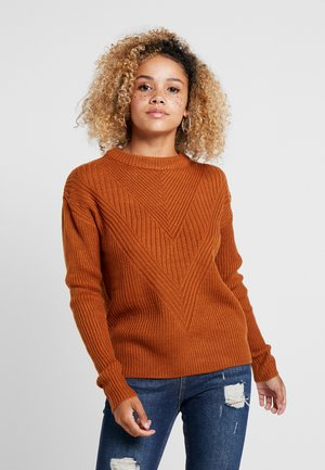 MID GAUGE ROUND NECK JUMPER - Trui - rust