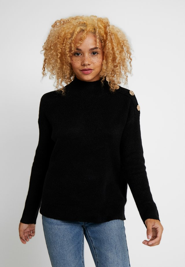 MID GAUGE BUTTON SHOULDER - Pullover - black