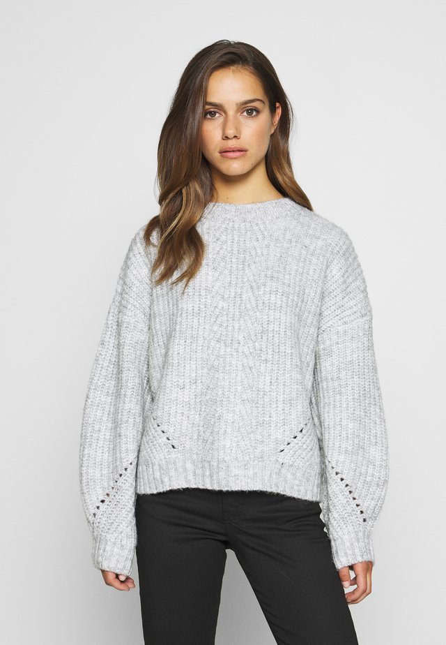 POINTELLE STITCH JUMPER - Jersey de punto - grey