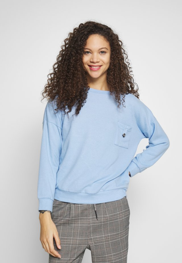 BRUSHED POCKET  - Jumper - pale blue