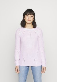 Dorothy Perkins Petite - STITCH INTEREST JUMPER - Jersey de punto - blush - 0